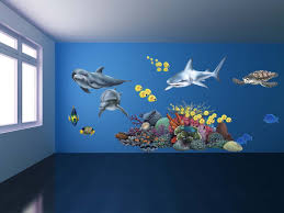 bedroom with shark wall decor design ideas and decor