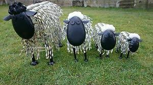 large metal sheep sculpture garden ornament retail display farmers