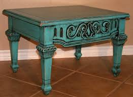 Distressed Table Small Turquoise U0026 Black End Table Facelift Furniture