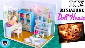 diy miniature dollhouse living room kit with lights hemiola u0027s