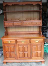 Solid Wood Buffet And Hutch Large Stanley Furniture Country Maple China Hutch Cabinet Buffet