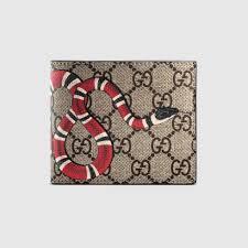 black friday mens wallet kingsnake print gg supreme wallet gucci monogramming 451268k551n8666