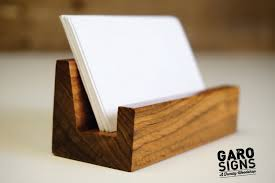 business card holder business card stand rustic office decor
