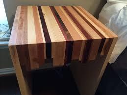 hand crafted random bedroom butcher block nightstand by texas