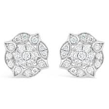 diamond stud earrings uk white gold vintage style diamond stud earrings