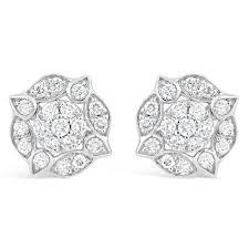 gold stud earrings uk white gold vintage style diamond stud earrings