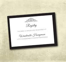 wedding registry idea wedding registry enclosure cards pdf instant
