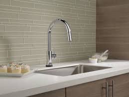 touch technology kitchen faucet delta trinsic pull down touch single handle kitchen faucet with