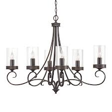 Kichler Lighting Chandelier Shop Kichler Diana 35 98 In 6 Light Olde Bronze Williamsburg Clear