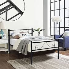 amazon com greenforest twin size metal bed frame with stable