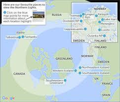 Where To See Northern Lights Aurora Borealis Map My Blog