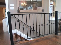 wrought iron railing with decorative collared pickets alternating wrought iron railing with decorative collared pickets alternating with a basket picket