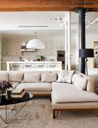 Modern Low Back Sofas Industrial Modern The Exposed Wood Beam Pipes Low Back