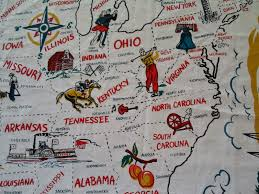 World Map Tablecloth by Happier Than A Pig In Mud Vacationland Usa Tablecloth