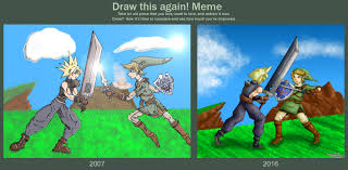 Link Meme - cloud vs link draw this again meme by dragonfunk7 on deviantart