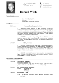 Top Ten Resume Format Example Of A Resume Format 5 Brief Resume Format Casual Letter