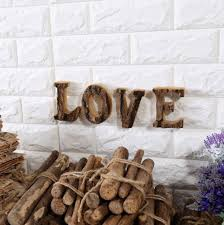 1pc home shop decor ornament gift wood signs per letter sign model