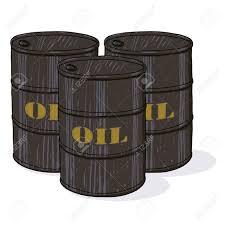 huile de barils illustration trois barils de pétrole dessin de