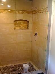 marvelous open shower ideas by adorable shower art stone flooring