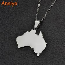 necklace jewelry australia images Anniyo 316 stainless steel the commonwealth of australia map jpg