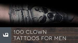 100 clown tattoos for men youtube