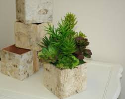 Rustic Vases For Weddings Birch Bark Vases Wood Boxes Floral Arrangement Square Flower