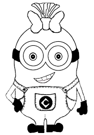 minioncoloring pages girls coloring