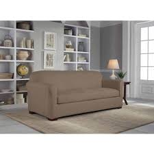 Armless Sofa Slipcover by Serta Reversible Microsuede Stretch Fit Slipcover Sofa 2 Piece