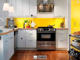 kitchen room interior abstract design of the kitchen from ikea uses brown white