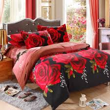 3d Bedroom Sets by Online Get Cheap Red Rose Bed Set Aliexpress Com Alibaba Group