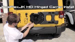 Rugged Ridge Tire Carrier Teraflex Hd Hinged Carrier Install