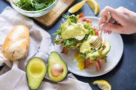 cuisine hollandaise eggs benedict blt with avocado hollandaise a power packed breakfast