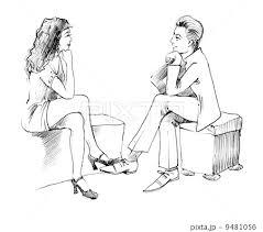 woman body talk sketch black conversation art listen position pose