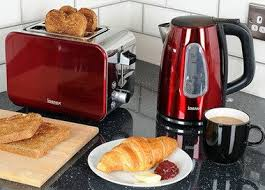 Brushed Stainless Steel Kettle And Toaster Set Best Kettle U0026 Toaster Sets Uk In Red Green Purple Blue