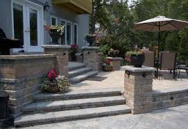 Terraced Patio Designs Http Www Schneiderslandscaping Files Landscaping Ideas Brick