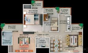 2bhk House Plans 930 Sq Ft 2 Bhk 2t Apartment For Sale In Supertech Capetown Sector
