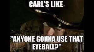 Carl Walking Dead Meme - walking dead meme 016 carl anyone gonna use that comics and memes