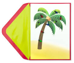 palm tree with lights greeting cards papyrus