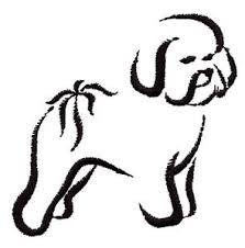 bichon frise cartoon bichon frise sketch embroidery design by embroidery central
