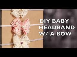 baby headband diy diy how to make a baby headband with a bow