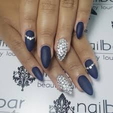 navy blue stiletto nails nail art pinterest blue stiletto