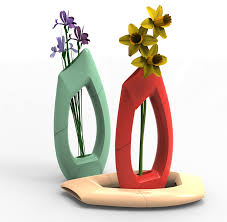 rethinking the flower vase with solidworks u0026 an objet 3d printer