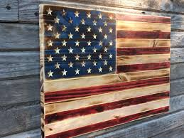Usa Flag History Rustic American Flag Red White And Blue Charred Wood American