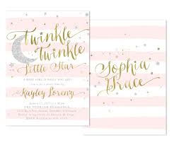twinkle twinkle baby shower invitations twinkle twinkle girl baby shower or sprinkle