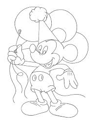 mickey holds balloons coloring page boys pages of