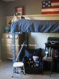 re purposed pallet racking to lofted bed