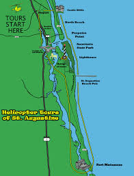 St Augustine Florida Map by Old City Helicopters St Augustine Fort Matanzas U0026 Old