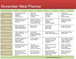 november clean meal plan family adventure