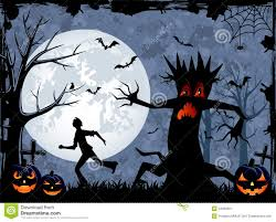 halloween monster tree stock image image 34303991