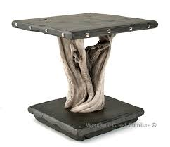 end tables designs style driftwood end table square